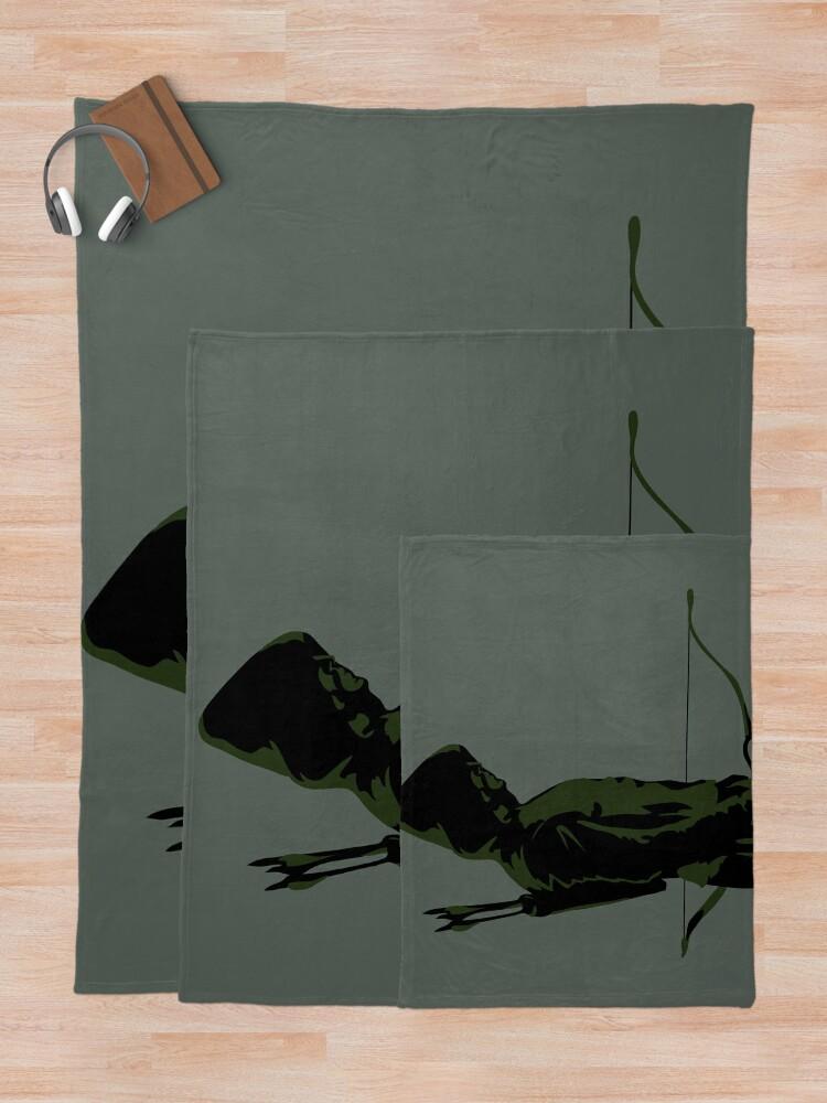 Alternate view of Green Arrow - Oliver Queen Throw Blanket