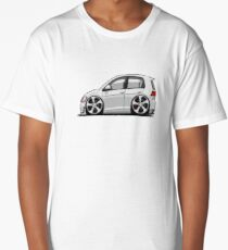 Cartoon Volkswagen Golf GTi White Long T-Shirt