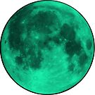 Neon Aqua Moon by amdevine