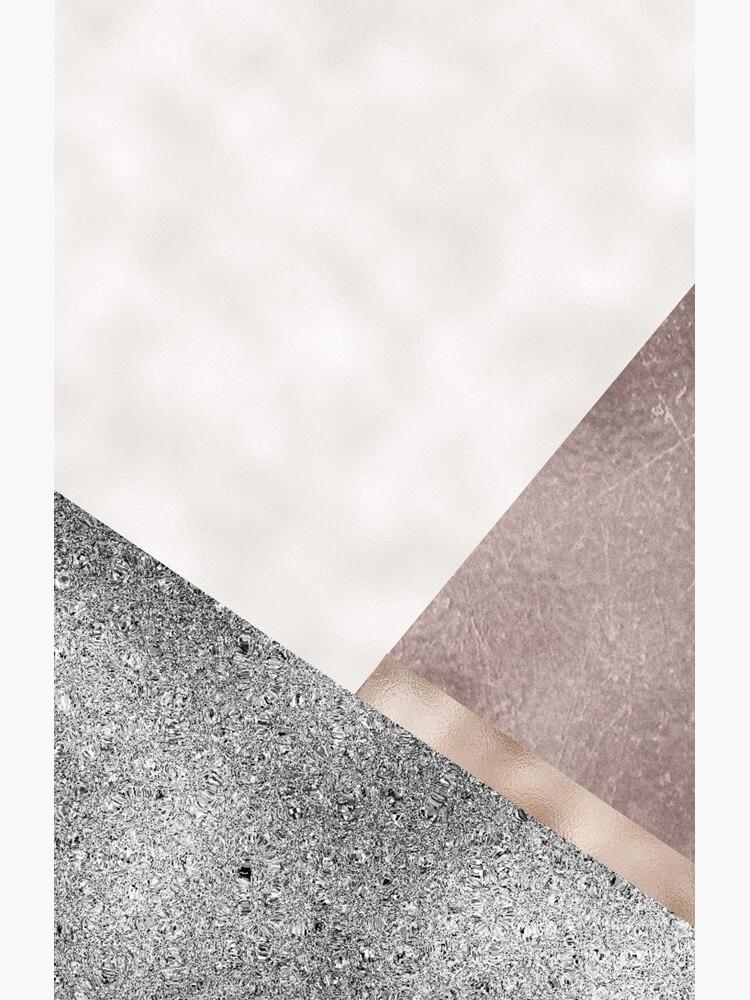 Rose grunge - geo layers III by peggieprints
