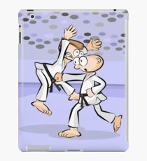 Karate a direct hit with all his energy iPad Case/Skin