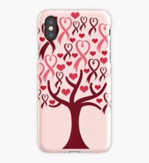Raising Support & Awareness - Charity Ribbon Tree (Pink) iPhone Case/Skin