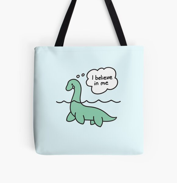 Nessie Believes in Nessie All Over Print Tote Bag