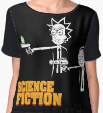Science Fiction Rick and Morty Pulp Fiction Women's Chiffon Top