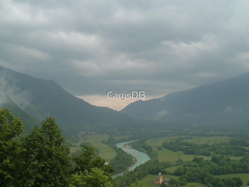 Above Kobarid, Slovenia by CarysDB