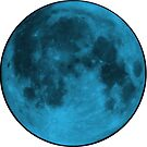 Neon Blue Moon by amdevine