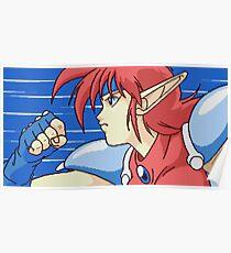 Popful Mail (Sega CD) Gotta Go Fast Poster