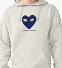 Designer Inspired Blue and Gold Heart  Pullover Hoodie