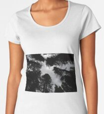 Towering pines in Tin Cup Women's Premium T-Shirt