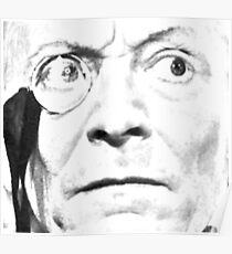 1st Doctor Close Up Sketch Poster