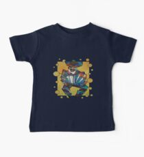 Cubist Style Accordion Player Vector Baby Tee