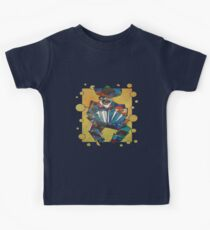 Cubist Style Accordion Player Vector Kids Tee