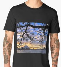 Sunset over Sydney Harbour, Australia Men's Premium T-Shirt
