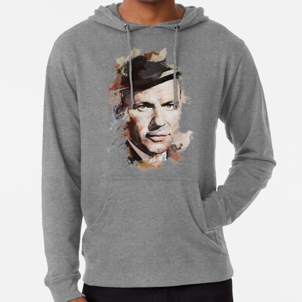 Paint-Stroked Portrait of Classic Actor and Singer, Frank Sinatra Lightweight Hoodie