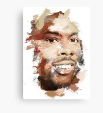 Paint-Stroked Portrait of Actor and Comedian, Chris Rock Canvas Print