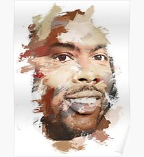 Paint-Stroked Portrait of Actor and Comedian, Chris Rock Poster