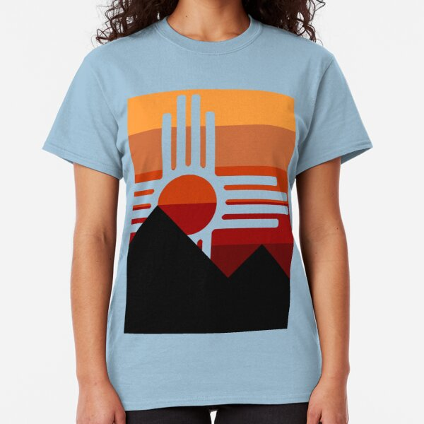 minimalist zia mountain sunset Classic T-Shirt