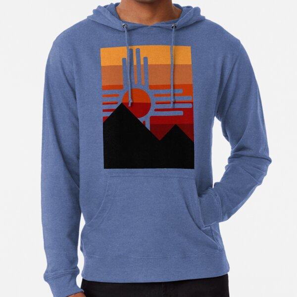 minimalist zia mountain sunset Lightweight Hoodie