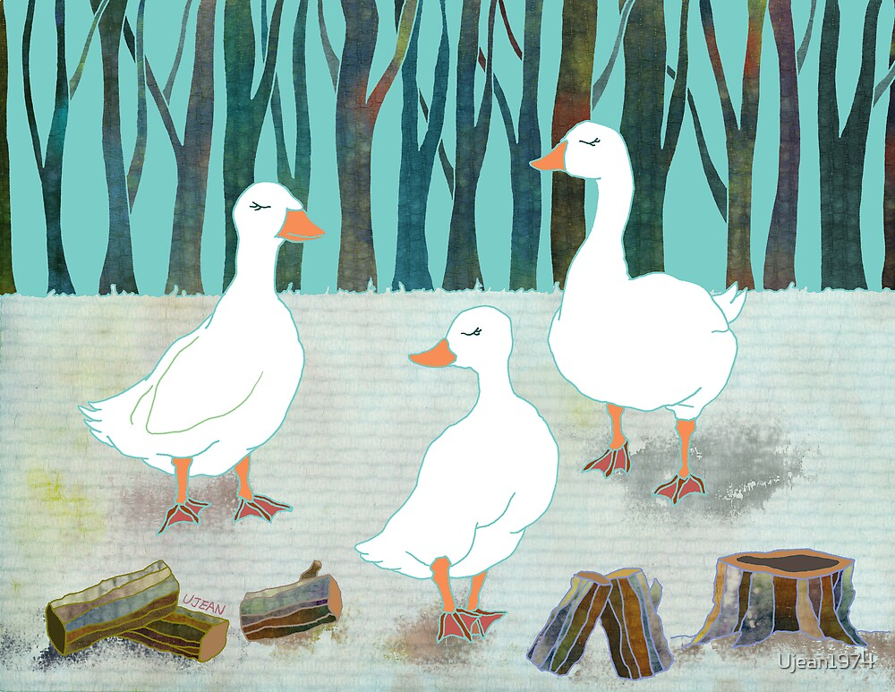 White Geese by Ujean1974