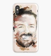 Paint-Stroked Portrait of Actor and Comedian, Ricky Gervais iPhone Case/Skin