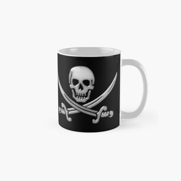 Glassy Pirate Skull & Sword Crossbones  Classic Mug