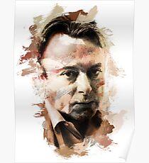 "Paint-Stroked Portrait of Activist, Christopher ""Hitch"" Hitchens Poster"