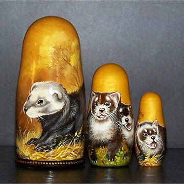 Ferret Nesting Dolls by iluvmyragdolls