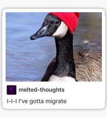 ive gotta migrAte Sticker
