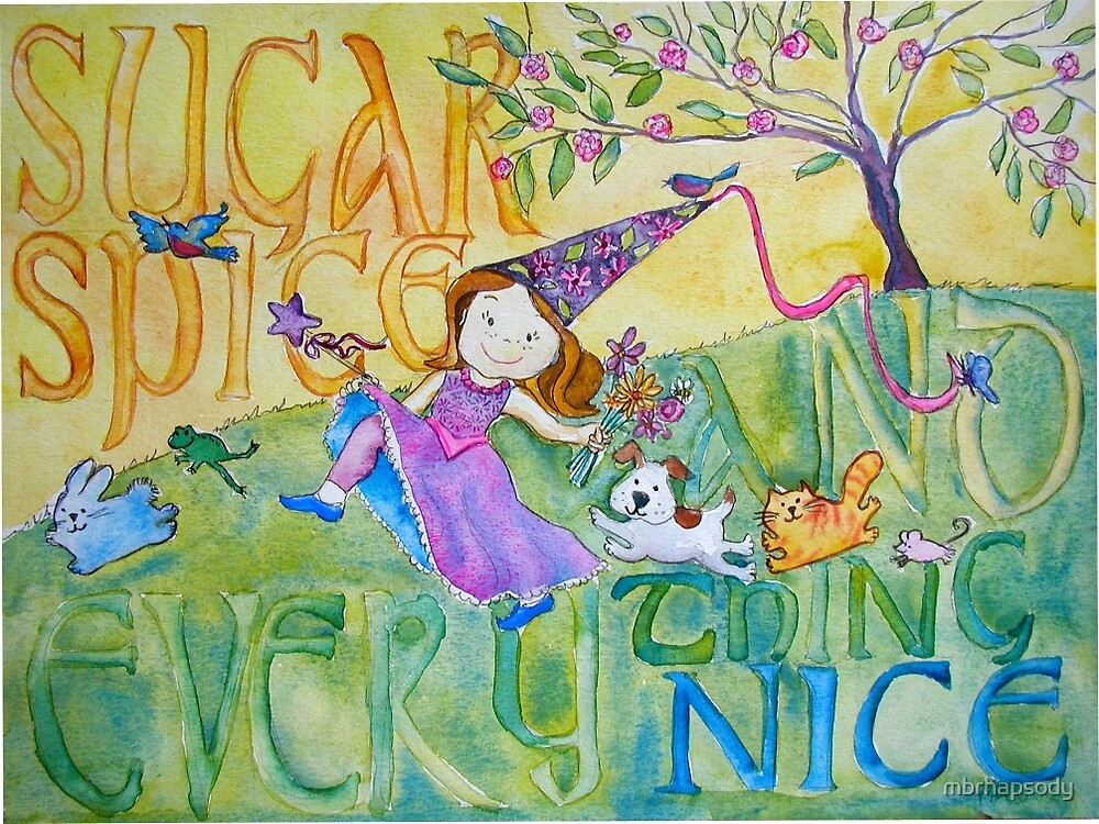 Sugar & Spice Princess Watercolor for Kids by Marybeth Cunningham