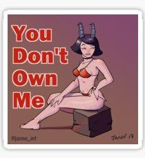 Pin Up devilish girl Sticker