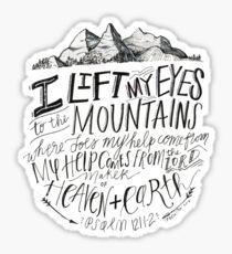 psalm bible verse mountains Sticker