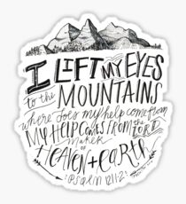 psalm bible verse mountains Sticker