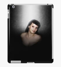 Digitally enhanced image of a young woman wearing a fetish fashion outfit and corset iPad Case/Skin