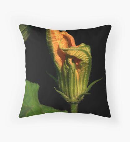 Pumpkin Vine Flower Throw Pillow