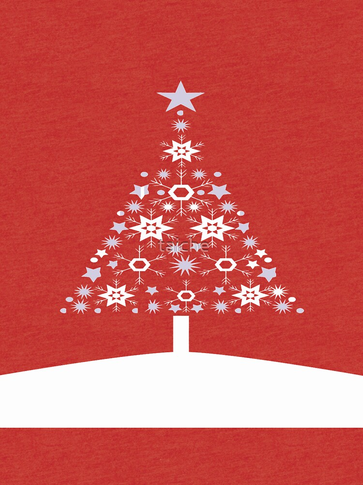 Modern Snowflake Christmas Tree Vector  by taiche