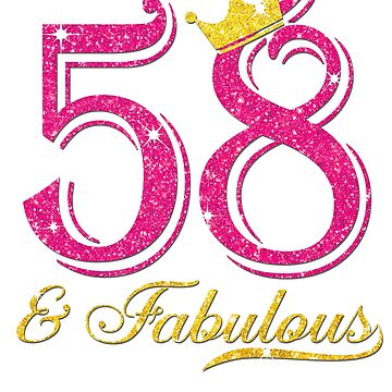 58th Birthday Women Fabulous Queen Shirt by JenniferMC882
