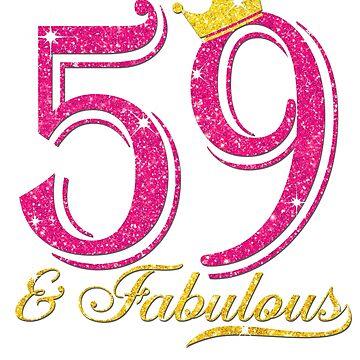 59th Birthday Women Fabulous Queen Shirt by JenniferMC882
