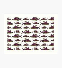 Flying Fish Pattern Art Print