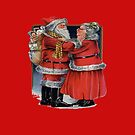 Vintage Mr and Mrs Claus Christmas Vector by taiche