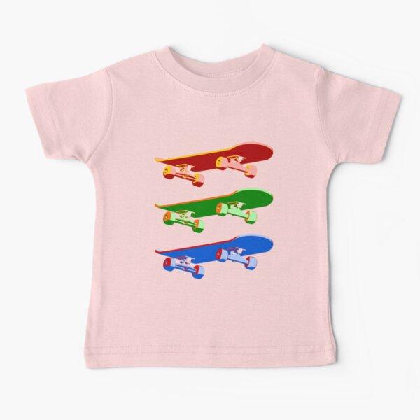 Three Skateboards Baby T-Shirt