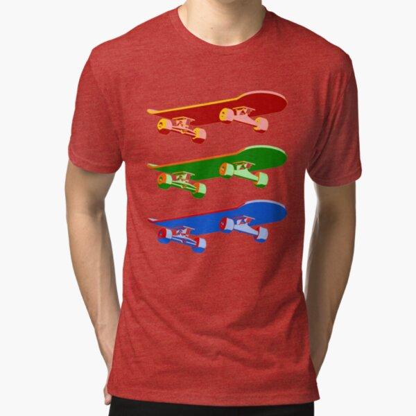 Three Skateboards Tri-blend T-Shirt