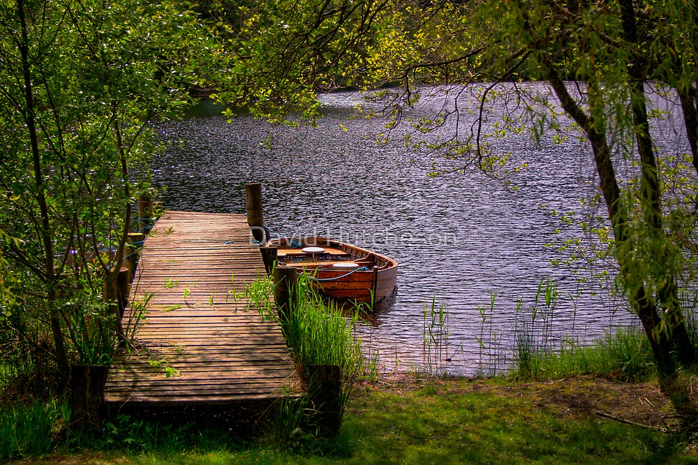 Loch Ard & Jetty by David Hutcheson