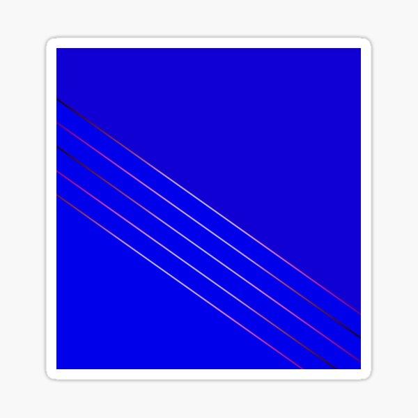 Victoria 4, índigo, cobalto, azul Pegatina
