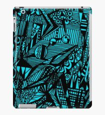 Circle 5 - Geometric - Aussie Tangle (see description notes re background colour options) iPad Case/Skin
