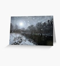 The Winter Night Greeting Card