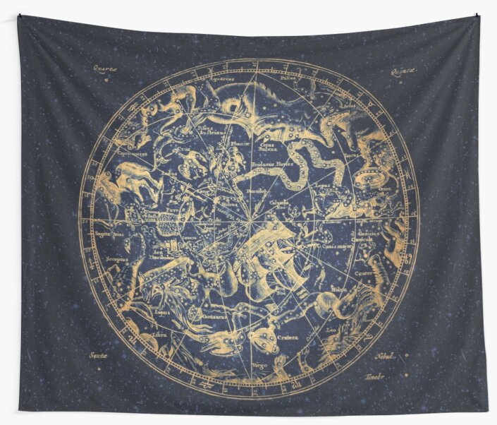 Zodiac Skies & Astrological Ties | Emboldened Yellow on Lazuli  by Daniel Watts