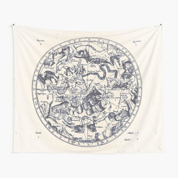Zodiac Star Sign Constellation Map | Ink on Paper Tapestry