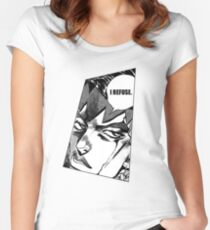 rohan kishibe i refuse Women's Fitted Scoop T-Shirt