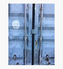 Shipping Container Doors Photographic Print