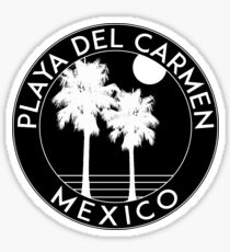 Playa Del Carmen Mexico Tropical Beach Surfing Palm Trees Surf Sticker